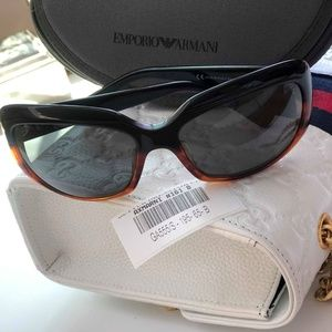 A|X Armani Exchange GA555/S Black Brown Sunglasses
